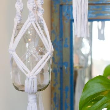 Macrame jar hangers 2