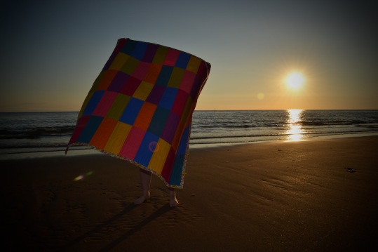 TVH rainbow sample quilt beach