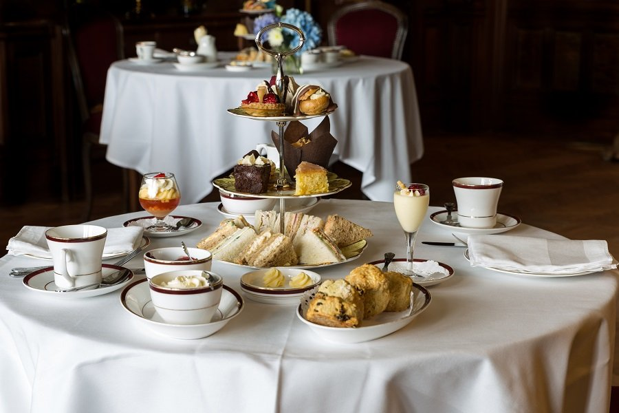 afternoon tea at muncaster castle