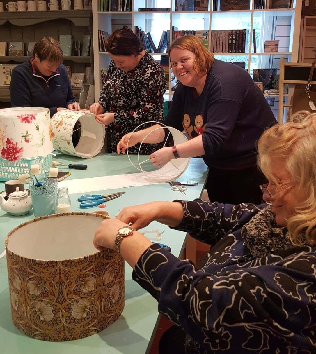 lampshade making rolling