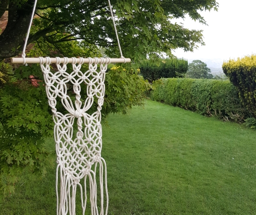 macrame wall hanging eskdale valley view