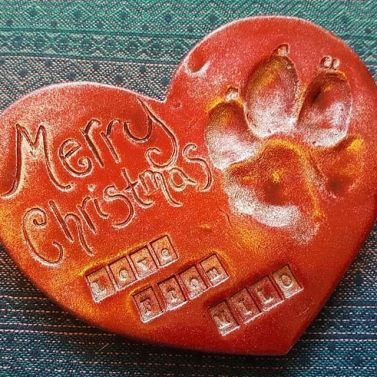 squishy paws red heart paw christmas