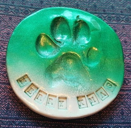 squishy paws round green christmas paw crafts for dogs
