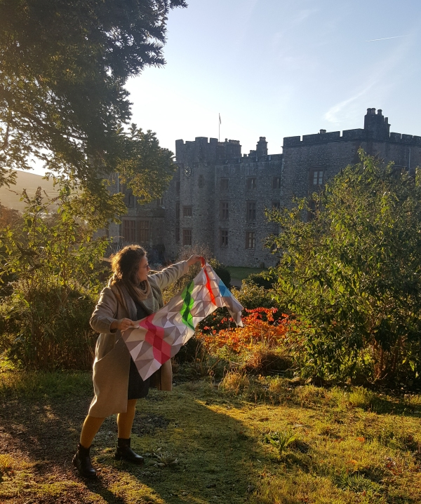 charlotte newland at muncaster castle patchwork triangle