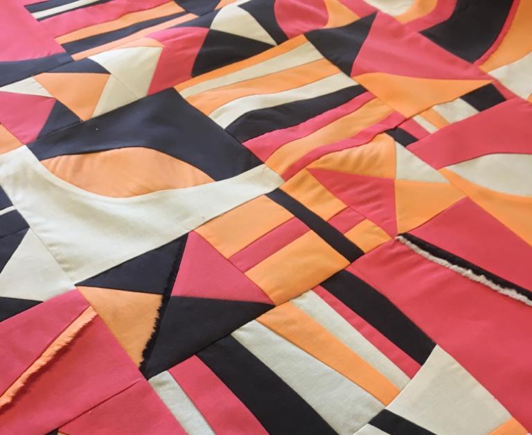 Improv patchwork block by charlotte newland