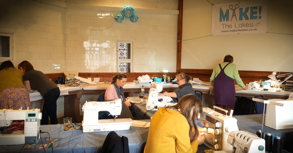 make the lakes sewing retreat sewing studio Muncaster Castle