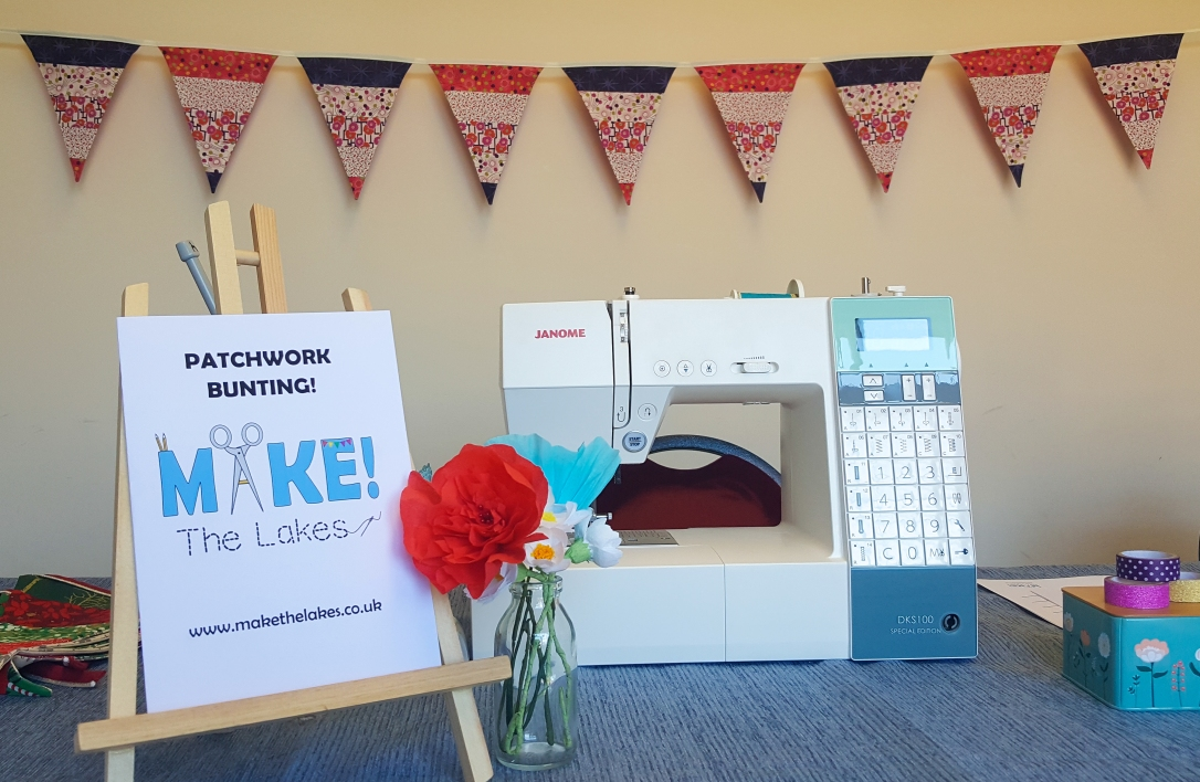 sewing machine and bunting